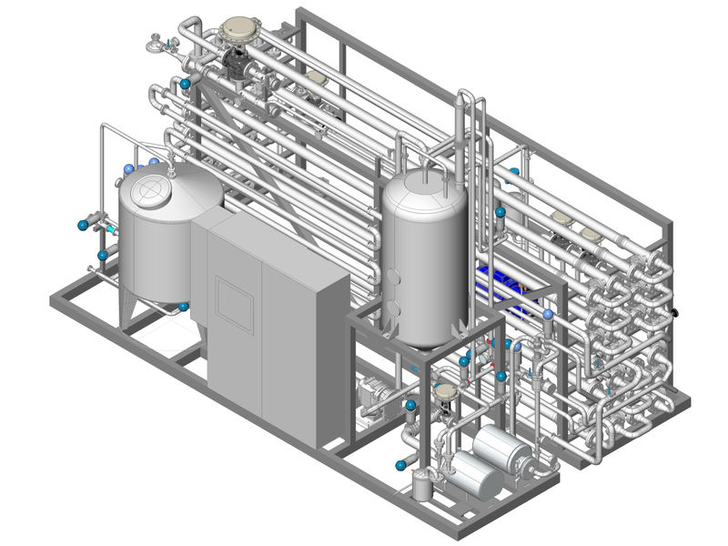 Tubular typeaseptic pasteurizer for milk